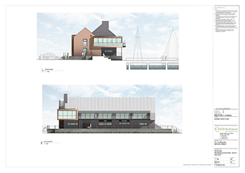 SYC Proposed Club House SOUTH AND WEST RENDERED ELEVATIONS 350px